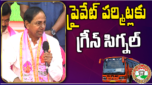 Take decision to issue permits to private buses Cm KCR