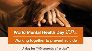 World Mental Health Day 2019: '40 seconds of action'