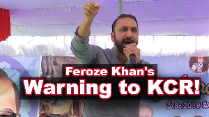 Feroz Khan's warning to KCR