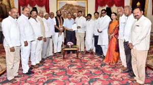 Opposition parties meet Governor over KCR's superstitions