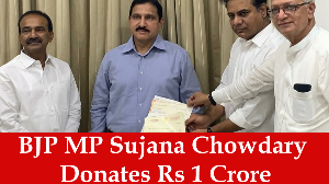 BJP MP Sujana Chowdary Donates Rs 1 Crore