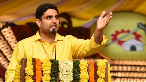'You cheated farmers'  Lokesh lashes out at Jagan