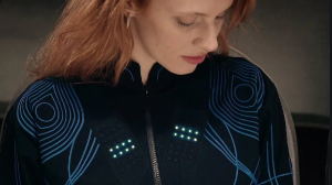 A jacket that helps the hearing impaired to feel the music