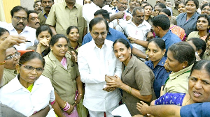 KCR's wrath turns into love, showers sops on TSRTC