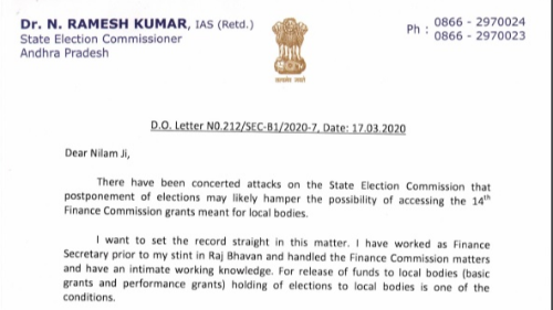 SEC Ramesh Kumar's strong reply to CS Nilam Sawhney