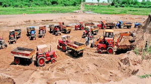 2 years jail and Rs 2 lakh fine for sand hoarders in AP